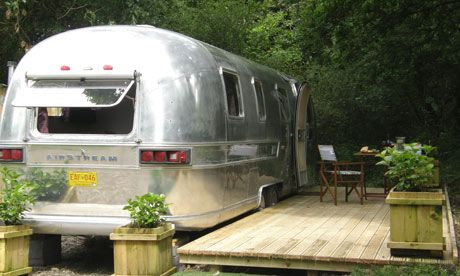 Airstream caravan, Brecon Beacons