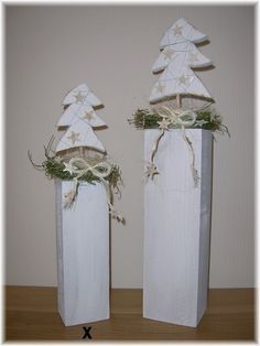 Stele aus Holz mit Tannenbaum ca. 42 cm von lampenfieber17 auf DaWanda.com