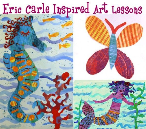 Eric Carle inspired Art Lessons