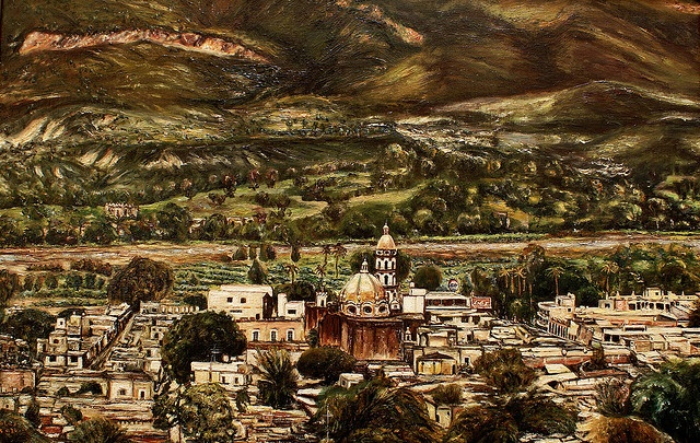Juchipila Zacatecas, Mex. Panorámica (1976) by Robles Doño