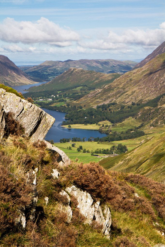 "wanderthewood: "" Buttermere and Crummock Water - Lake District, England by don't count the pixels """