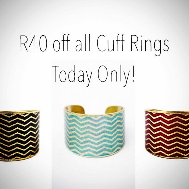 Our special on our cuff rings for today (14/07/2014) only. Enter the coupon code ring40 when you checkout