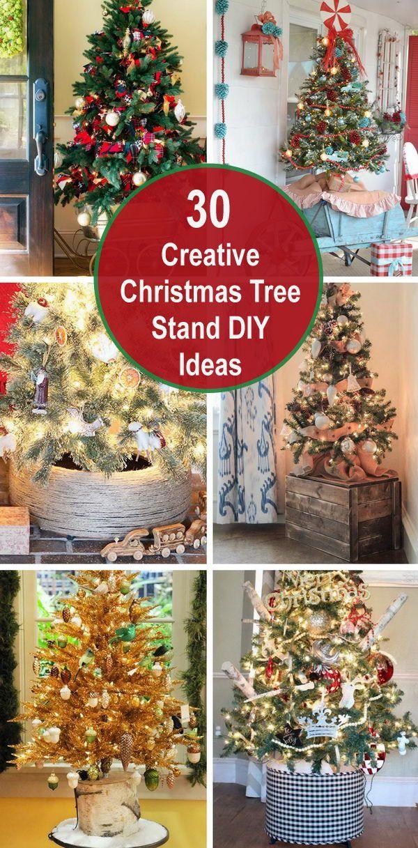 30 Creative Christmas Tree Stand Diy Ideas Cheer Projects Christmas Tree Stand Diy Creative Christmas Trees Christmas Diy