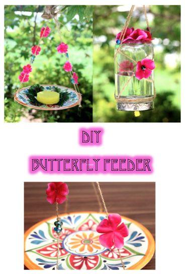 DIY Butterfly Feeder Home Decor Garden Craft Idea