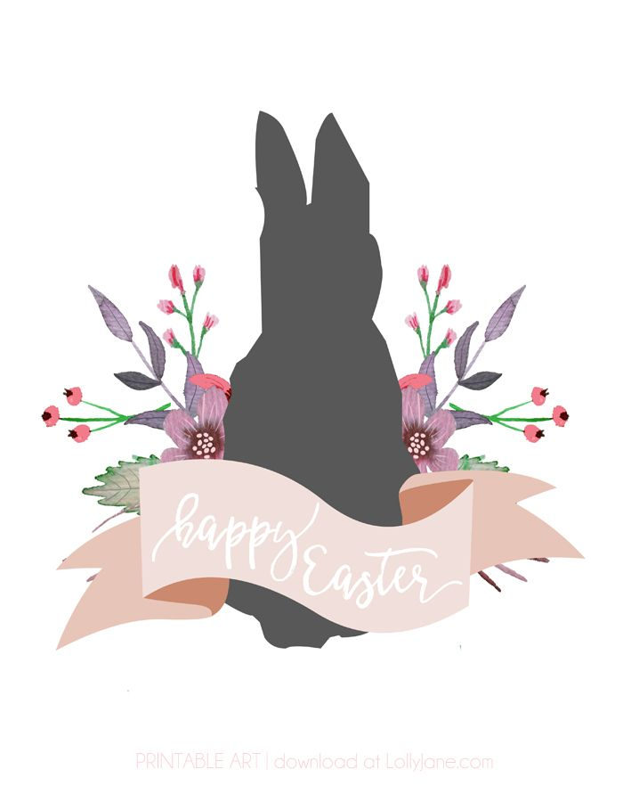 Happy Easter, printable whimsy art. Just print and frame to spruce up your Easter mantel or special Easter brunch or dinner!