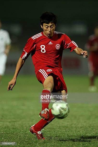 Deshuai Xu of Hong Kong controls the ball during the Men's Football group E pool match between Uzbekistan and Hong Kong ahead of the 16th Asian Games...