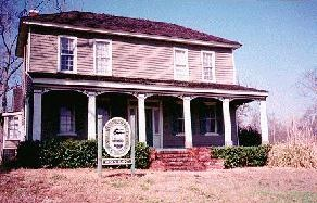 The Collins-Scott House  An early pioneer home built around 1851 in Phenix City, Alabama.