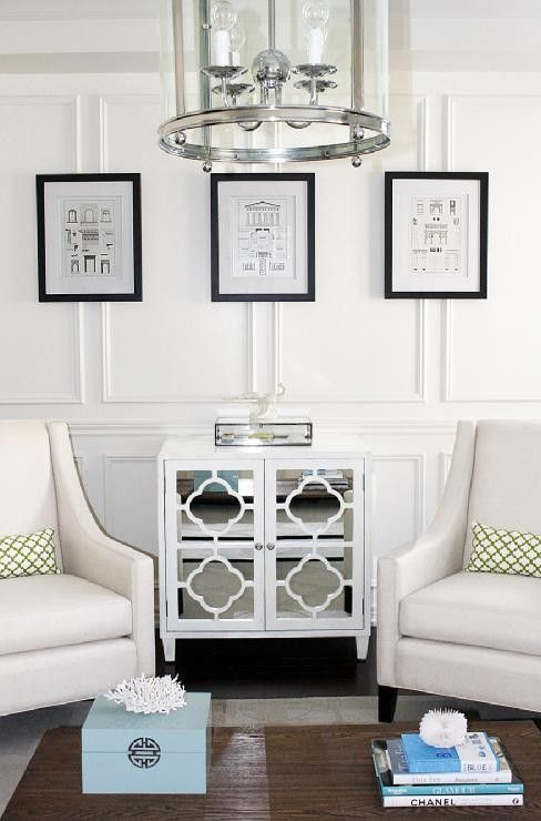 white decor: Decor Ideas, Side Tables, Living Rooms, Chairs, Interiors Design, White Rooms, Contemporary Living, Cabinets Doors, Sweet Life