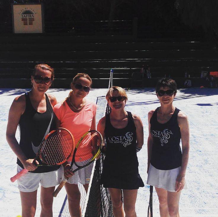 Team Estonia & Team Ireland... Great day on court with a win to Team Estonia.  #salud #costadeltennis #tennisgirls #chicas #tennis #doubles #ladiestennis #competition #ireland #tennisireland #adults #tennisholidays #jobwelldone #buenviaje #traveloften #travelwell