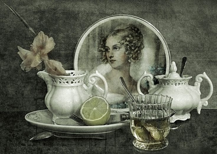 первый вечерний чай ретро картинка этом