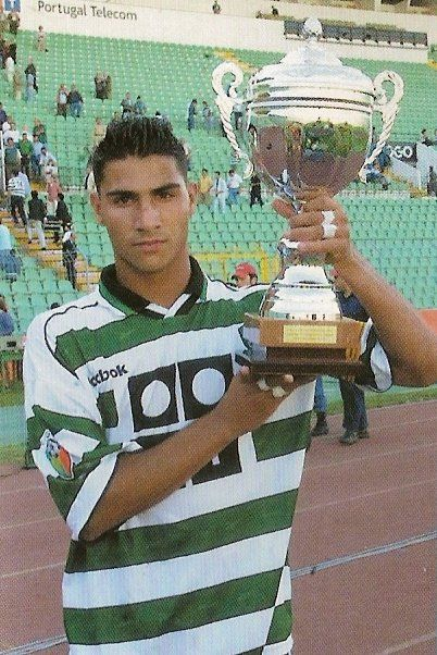 RICARDO QUARESMA holding a trophy. He was team captain in that match