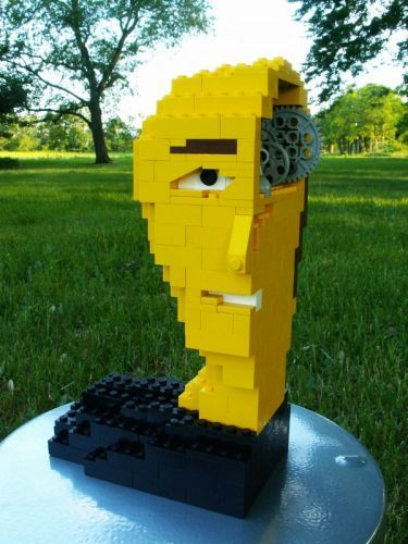 His Mom always said he was a little air-headed...  There's more, here: http://www.mocpages.com/moc.php/60426: Air Headed, Tony, Lego, Mom