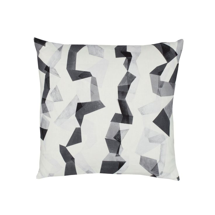 Contemporary Cushion Cover - Geometric Pillow - Flint - Black & White Origami Pattern (59.00 GBP) by OurGreenRoomDesign