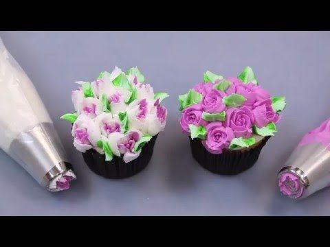 Global Sugar Art.com Russian Rose and Tulip Tips Tutorial-Beautiful!