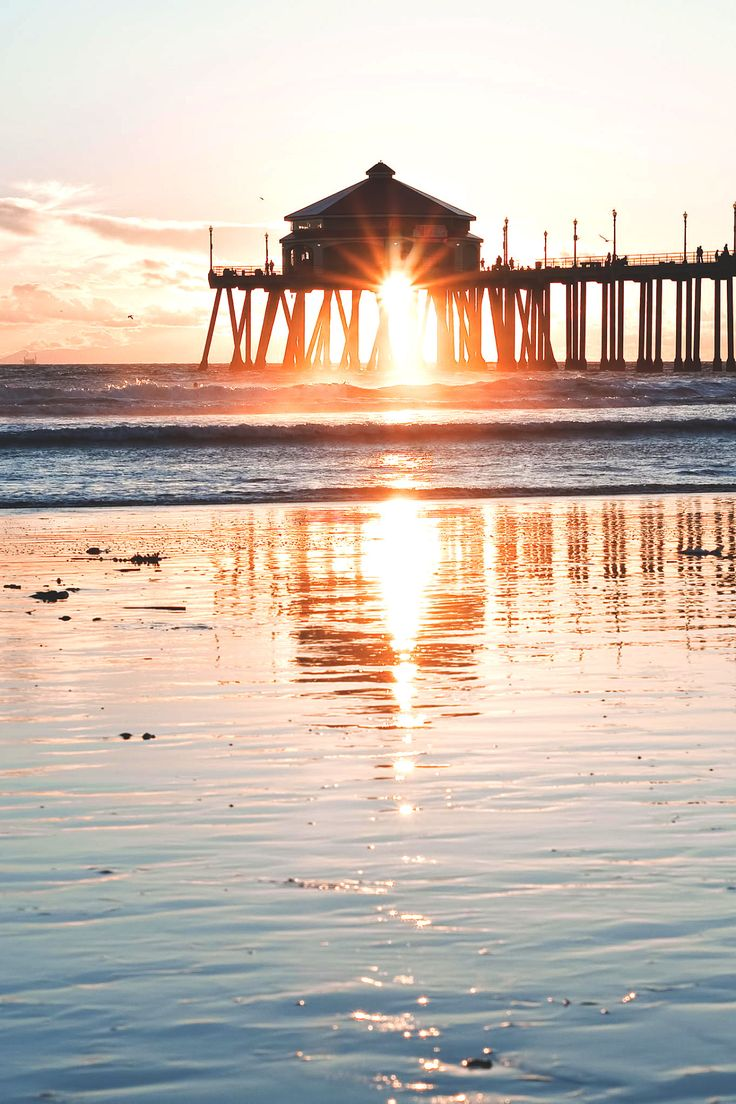 Ruby's at the Huntington Beach pier-have seen many sunsets there.....