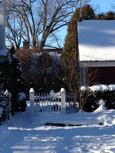 Garden gate in winter - Olde Oakville, December 2012