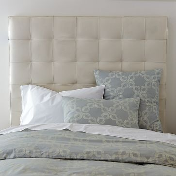Perfect A More Elegant Tufted Headboard For The Master Bedroom. Neutral Yet  Decorative Bedding.