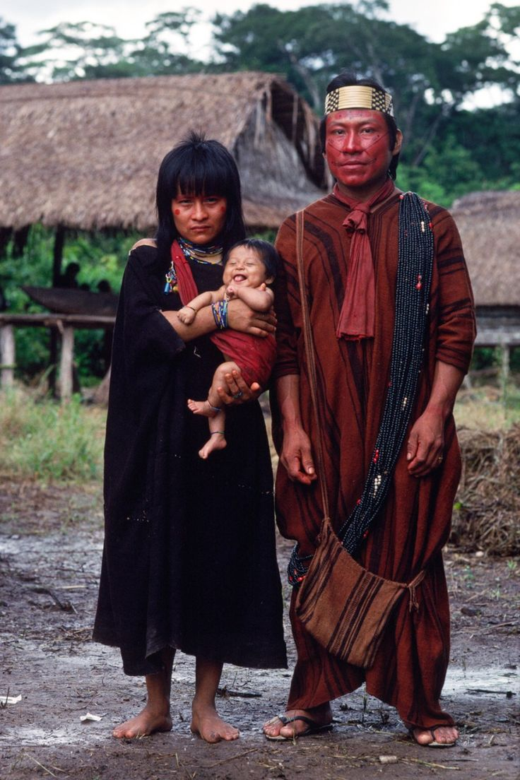 A young Ashaninka couple with their first child. | From 'Ashaninka' | Ph: Mike Goldwater