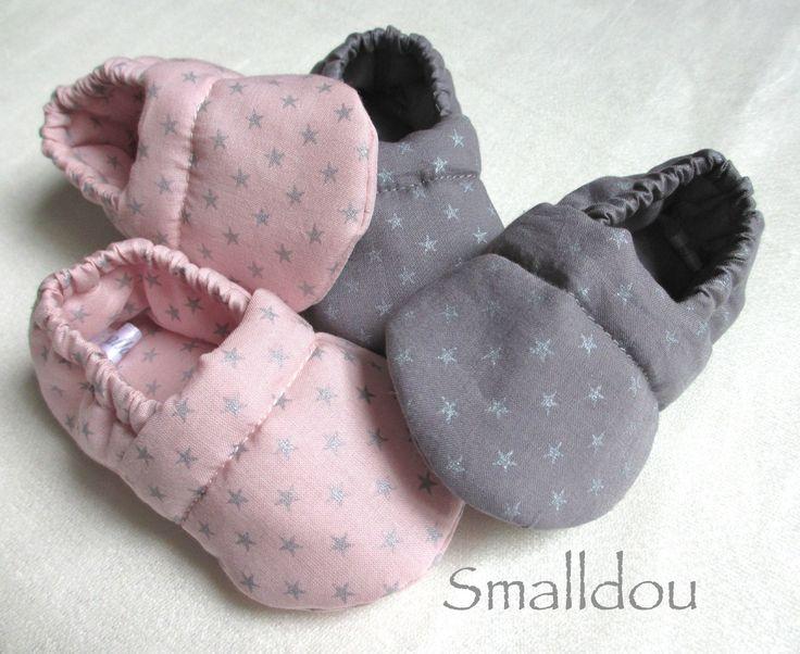 chaussons bébé smalldou batiste france duval stalla  http://www.alittlemarket.com/boutique/smalldou-57940.html