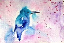 watercolor bird: Watercolor Birds, Bluebirds, Watercolor Hummingbirds, Watercolor Blue, Drawings Watercolor Paintings, Little Birds, Hummingbirds Watercolor, Blue Jay, Blue Birds
