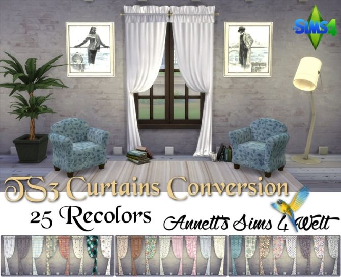 TS3 Curtains Conversion Part 1 at Annett's Sims 4 Welt via Sims 4 Updates Check more at http://sims4updates.net/objects/decor/ts3-curtains-conversion-part-1-at-annetts-sims-4-welt/