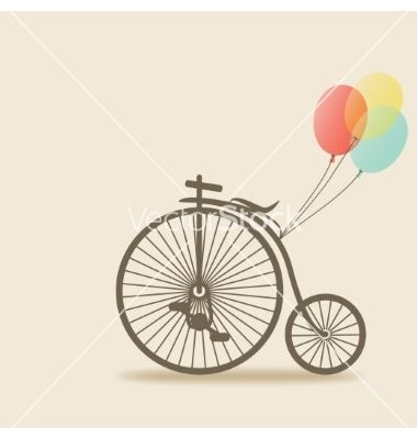 Bike with balloons vector by natbasil on VectorStock®