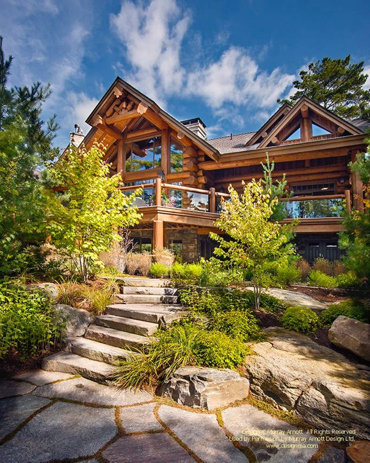 17 best images about beautiful homes on pinterest for Log home designs ontario