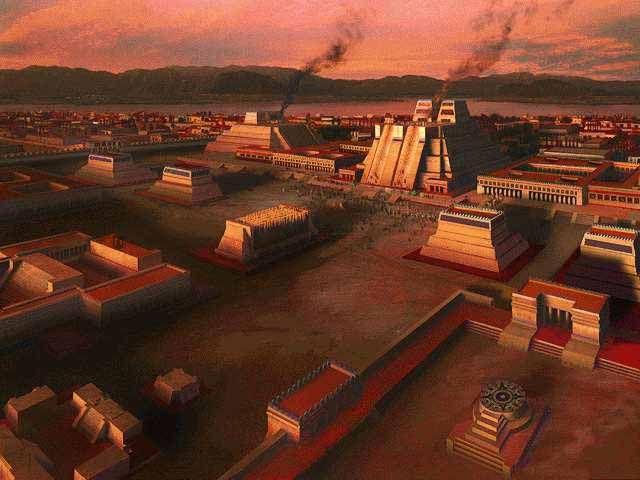 Los aztecas , que probablemente se originó como una tribu nómada en el norte de México , llegó a Mesoamérica a principios del siglo 13 . Desde su capital , Tenochtitlán , los aztecas emergieron como la fuerza dominante en el centro de México , el desarrollo de una organización social, política , religiosa y comercial intrincada que llevó a muchas de las ciudades-estado de la región bajo su control . de España Cortés capturó Tenochtitlán en 1521 , poniendo fin a la última gran civilización…