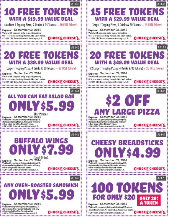 1 Chuck E Cheese Coupons. What is Chuck E Cheese? How to get free Chuck E Cheese Coupons with Email Sign-Up. Local Chuck E Cheese Coupons.