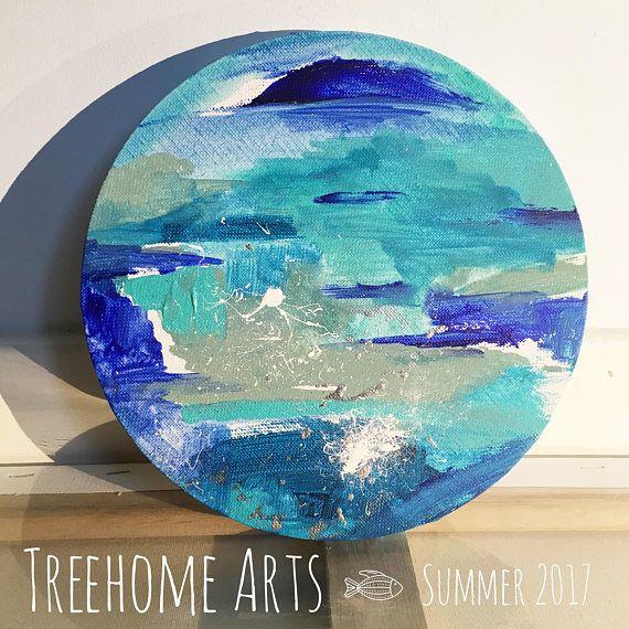 NEW for Summer 2017 Original Abstract on Small Circular