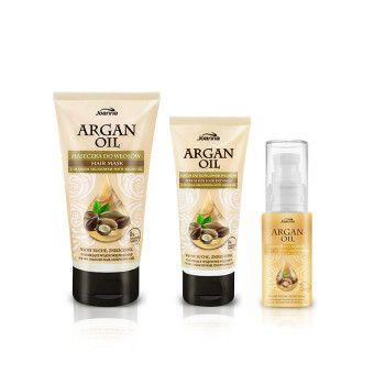 Seria Argan Oil przeznaczona jest do włosów przesuszonych, ze zniszczonymi końcówkami suchych, łamliwych i trudnych w regeneracji. Główny składnik tej serii - olejek arganowy, to jeden z najcenniejszych składników pielęgnacyjnych na świecie.