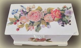 romantic box with decoupage