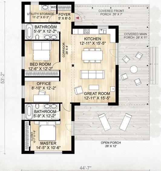 33 best planos de casas images on pinterest small houses for Planos de casas para construir en mexico
