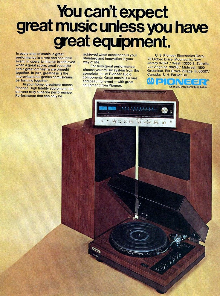 1974 Pioneer stereo ad, Vintage Audio HiFi Stereo (fb)