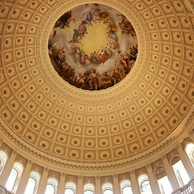 At the heart of it all #capitol #rotunda #washingtondc #georgewashington #architecture #art #building #monument
