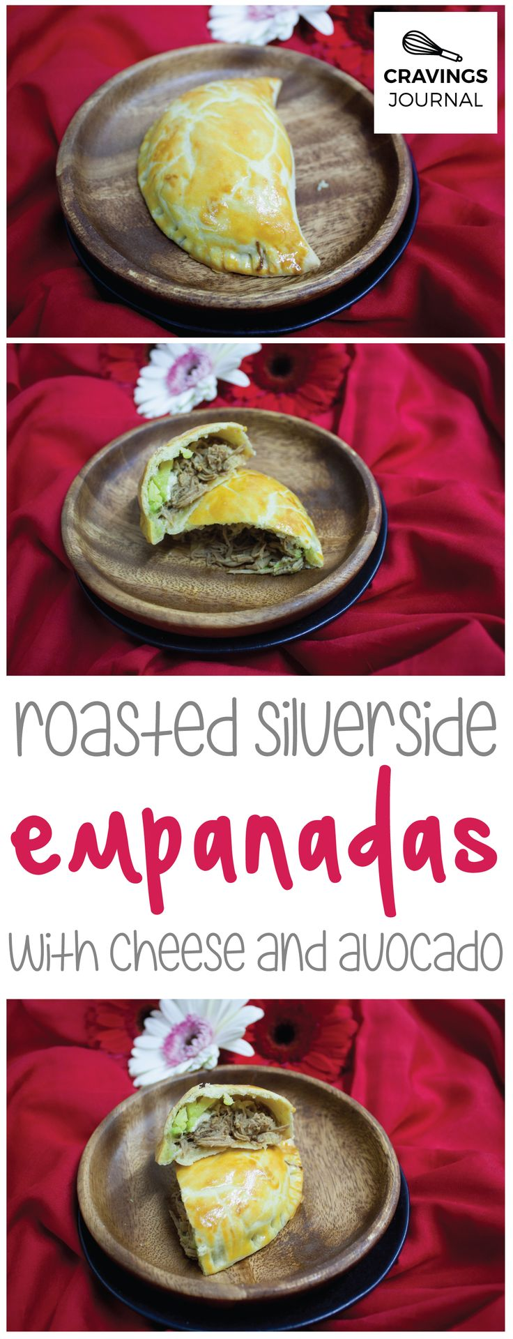 Typically prepared in Peruvian homes, this silverside roast goes beautiful inside an empanada with cheese and avocado! Must try.