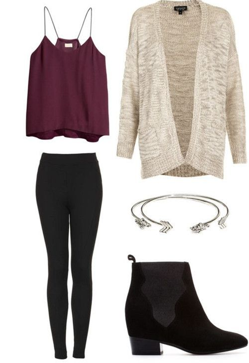 winter outfits with leggings