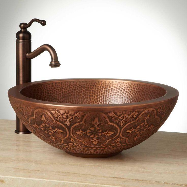 18 Bellis Double Wall Copper Vessel Sink