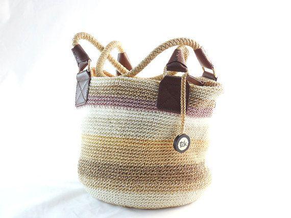 Vintage The Sak Crochet Style Handbag Woven Purse Hobo Shoulder Bag Bucket Pinterest Fashion And