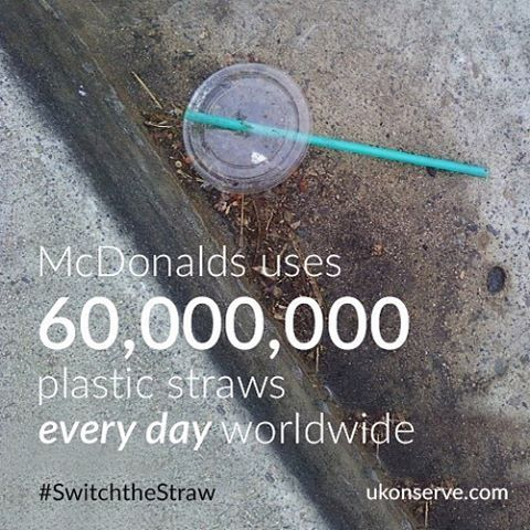 Another staggering straw fact. We can change this! reusable stainless steel straws