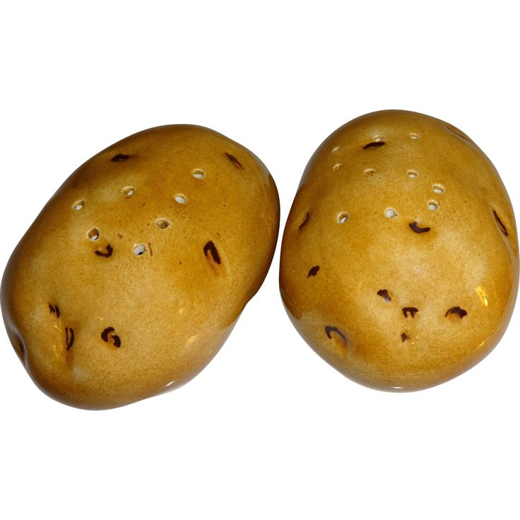 Pair of Baked Potatoes Salt and Pepper Shakers
