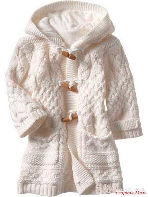 """Вяжем шикарное пальто для девочки: Дневник группы """"Вяжем вместе он-лайн"""" - Страна Мам"""