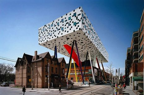 The Ontario College of Art and Design University - supported by stilts. Very…