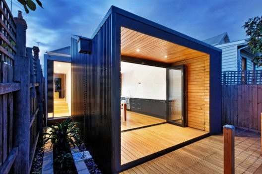 http://www.archdaily.com/171796/gardiner-house-4site-architecture/: Good Food, Melbourne Australia, 4Site Architecture, Grand Design, Long Wall, Gardiner House, House Extened, Backyards Ideas, House Extensions