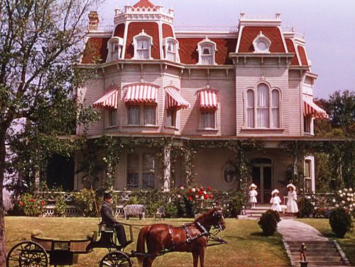Meet Me In St. Louis - From one of my all time favorite movies, this is the house from Meet Me In St. Louis, starring Judy Garland, which supposedly took place right around the St. Louis Worlds Fair in 1904. The address in the movie was 5135 Kensington Avenue. Kensington Avenue was lined with stately homes and was constructed by MGM. It was known as St. Louis Street.