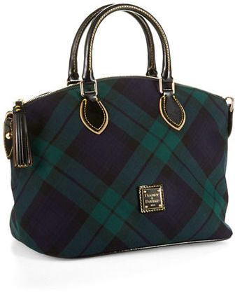 Dooney & Bourke Tartan Plaid Satchel