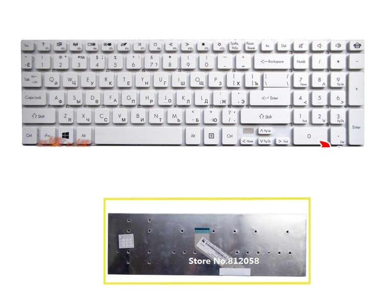 Brand New RU Keyboard white for Acer Aspire E1-510 E1-522 E1-530 E1-530G E1-532 E1-532G E1-771 Russian Keyboard without frame #Affiliate