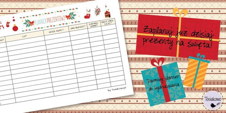 Planner prezentowy do pobrania i wydrukowania! Darmowy arkusz | Christmas gifts planner