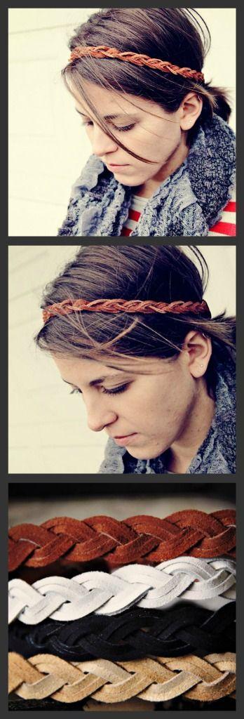 Diy leather headband inspiration