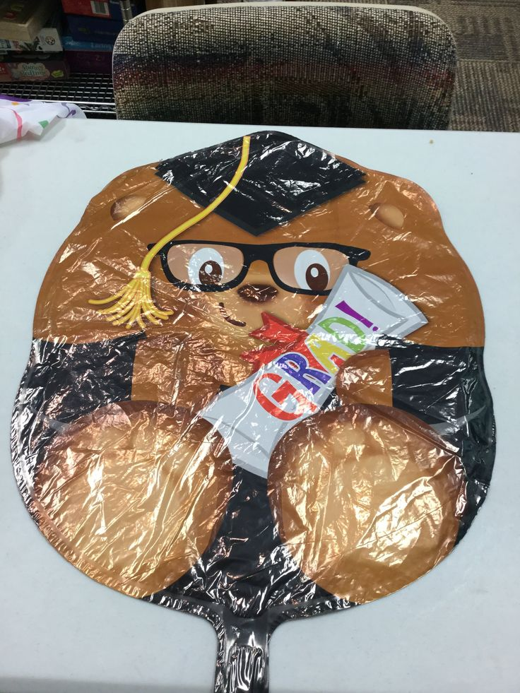 """Graduation Bear 18"""" balloon"""